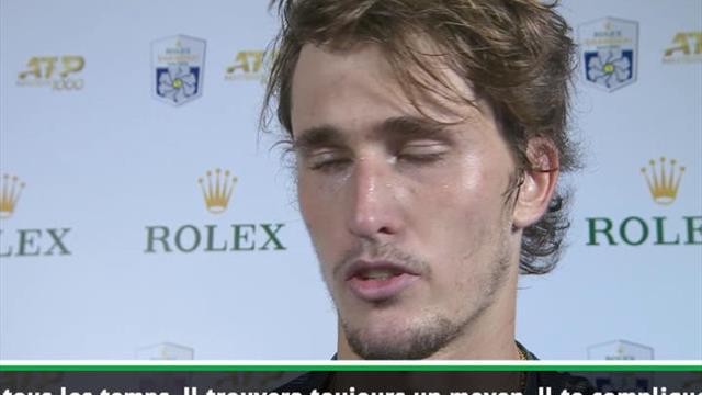 """Shanghai - Zverev : """"Federer, le plus grand de tous les temps"""""""