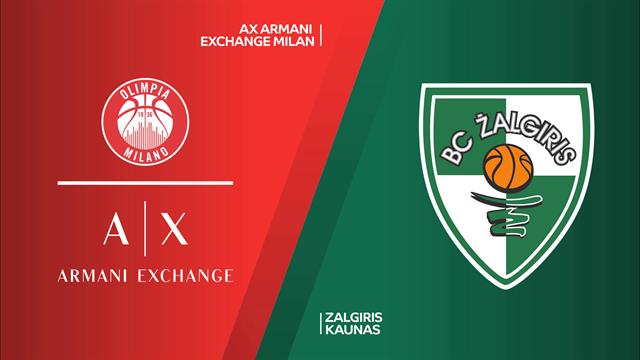Highlights: AX Armani Exchange Milano-Zalgiris Kaunas 85-81