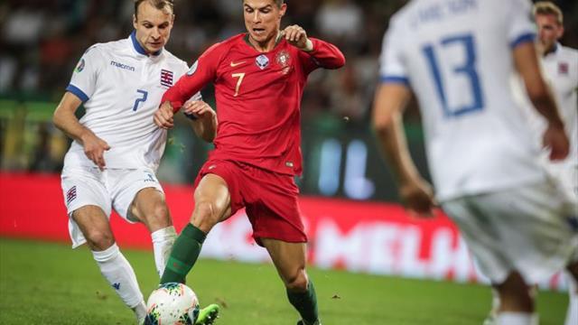 3-0. Cristiano, Guedes y Bernardo Silva acercan a Portugal a su meta