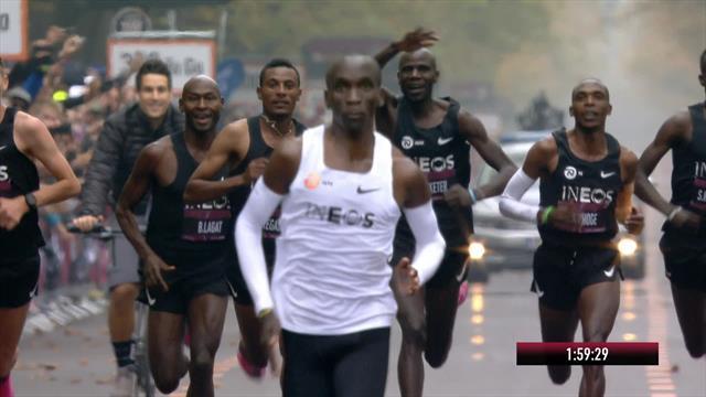 Watch: Eliud Kipchoge breaks two-hour marathon barrier