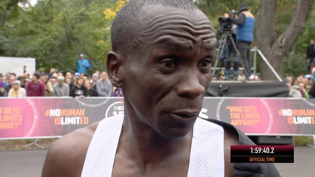 Kipchoge honoured to 'make history' after sub-two-hour marathon