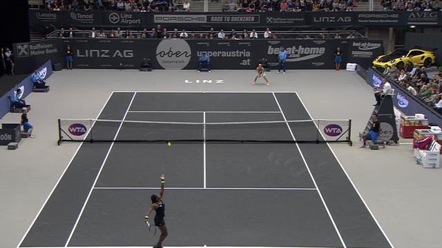 Watch Gauff close out victory to reach WTA Linz final