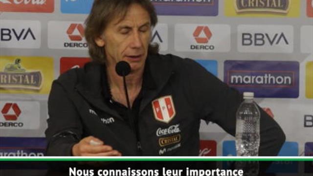 """Pérou - Gareca : """"L'Uruguay a assez de talents pour remplacer Suarez et Cavani"""""""