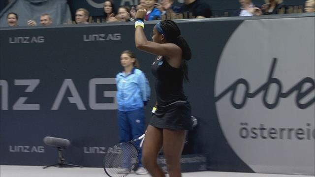Highlights: Gauff storms into WTA Linz final in style