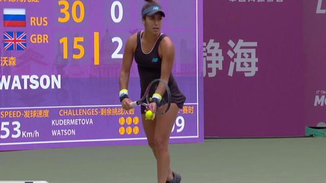 Tianjin - Watson file en finale sans trembler