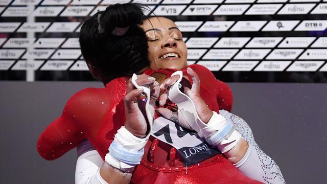 Downie sisters grab medals behind Biles at world championships