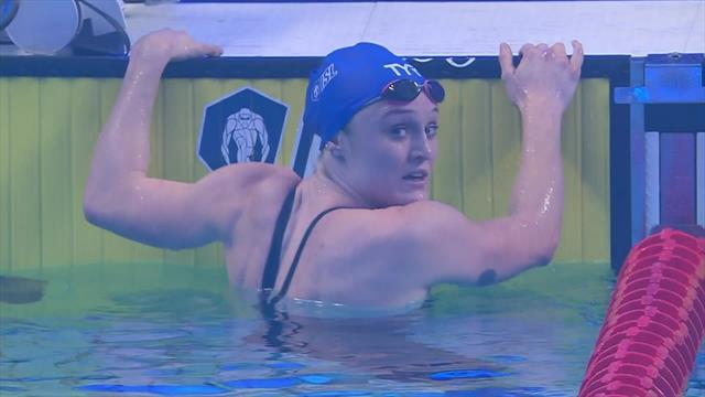 Dahlia beats Sjostrom to win 100m butterfly