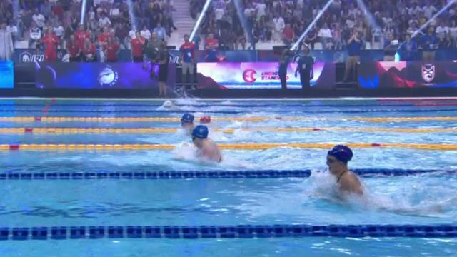 King wins 50m breaststroke in dominant fashion