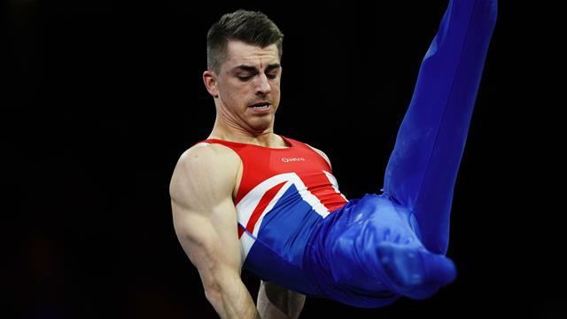 Whitlock wins third world pommel horse gold