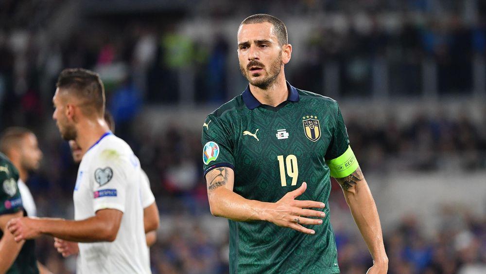Leonardo Bonucci capitano dell'Italia nel match contro la Grecia - 2019
