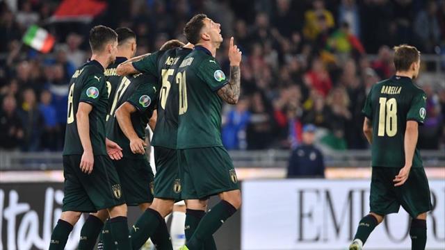 Le pagelle di Italia-Grecia 2-0: Bernardeschi non tradisce, Insigne migliora