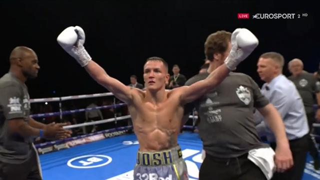 Boxeo, Mundial IBF Peso Pluma. Warrington mandó a dormir a Takoucht