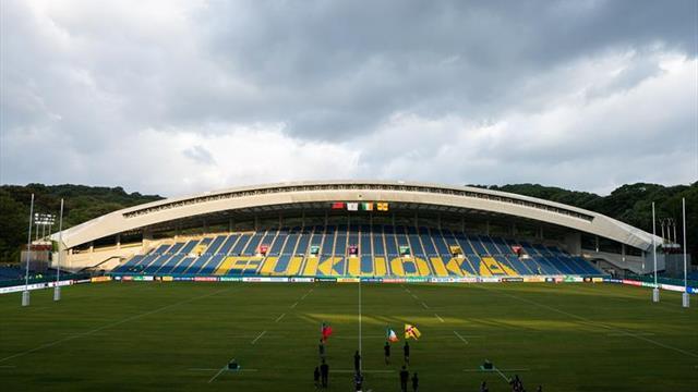 La World Rugby cancela un partido este domingo del Mundial por el tifón