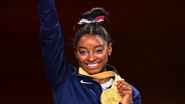 Simone Biles - Restul Lumii 5-1! Sportiva din SUA, recorduri de neegalat la Campionatele Mondiale
