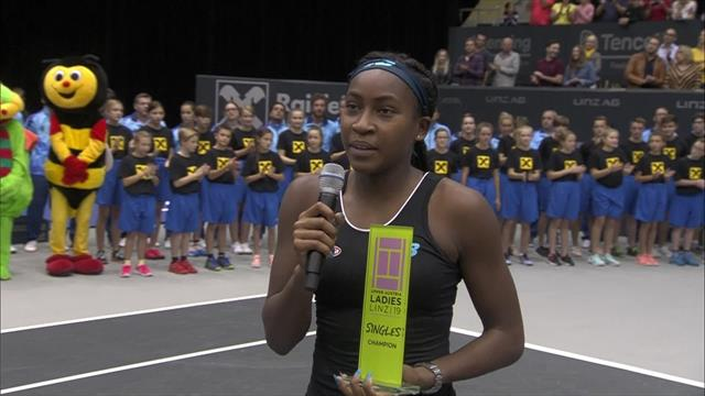 """""""I'll definitely remember this moment for the rest of my life"""" - Coco Gauff on her first WTA title"""