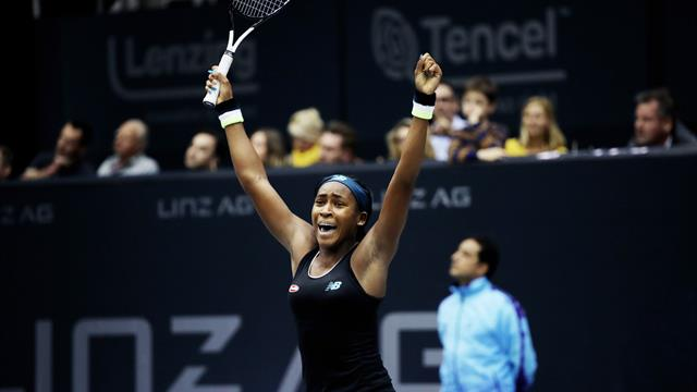 15-year-old Coco Gauff wins first WTA Tour title with victory over Ostapenko in Linz