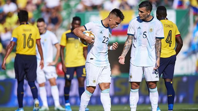 Staffetta Lautaro-Dybala e l'Argentina batte 6-1 l'Ecuador in amichevole