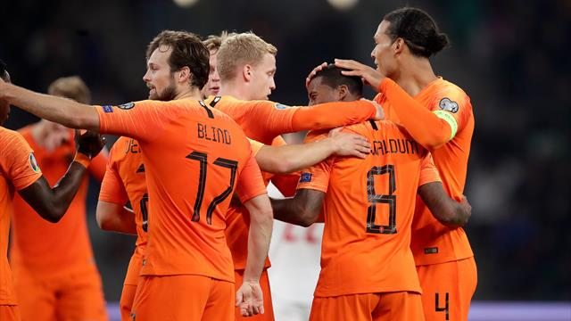 Wijnaldum stars for Dutch while Germany win with 10