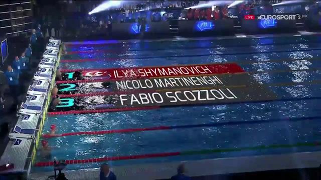 ISL, 100 rana: Shymanovich batte Martinenghi e Scozzoli