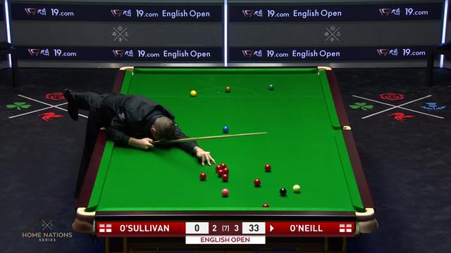 Jamie O'Neill makes foul at crucial moment with Ronnie O'Sullivan match in the balance