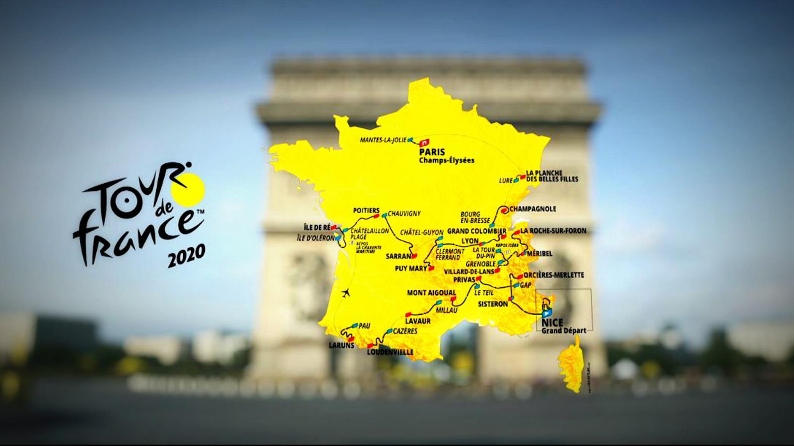 Tour De France 2020 Standings.Tour De France 2020 The Route In Full