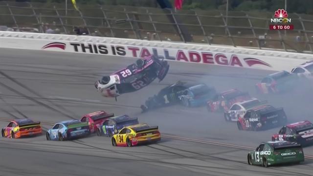 Maxi incidente al Talladega Superspeedway: l'auto di Gaughan prende letteralmente il volo!