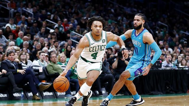Un puști de la Boston Celtics a reușit 8 coșuri de 3 puncte în 5 minute, la meciul de debut