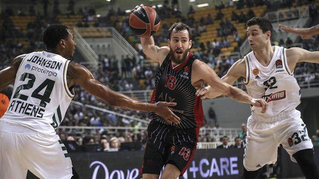 L'Olimpia Milano espugna Atene in volata: battuto il Panathinaikos 79-78