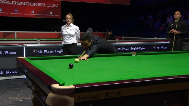 Watch: The moment Mei sank O'Sullivan at the English Open