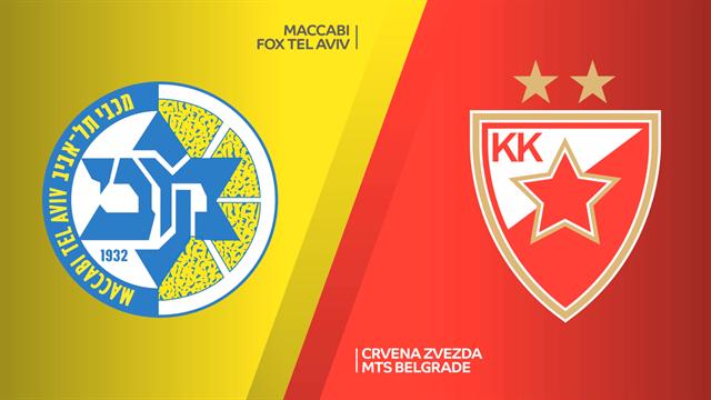 Highlights: Maccabi FOX Tel Aviv - Stella Rossa Belgrado 84-69 d1ts