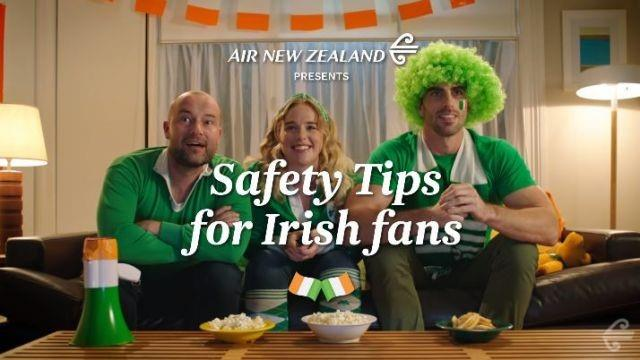 Air New Zealand mostra all'Irlanda le uscite... Dai quarti di finale della Coppa del Mondo!