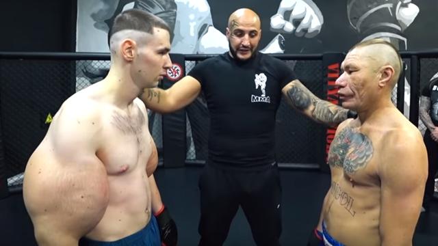 В MMA состоялся бой века: Руки-базуки против Олега Монгола