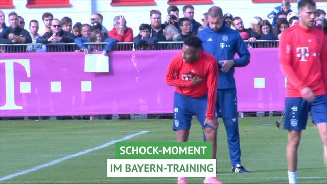 Schreck im Bayern-Training: Kovac bricht Einheit ab