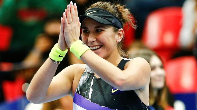 Highlights as Bencic beats home favourite to win title in Moscow