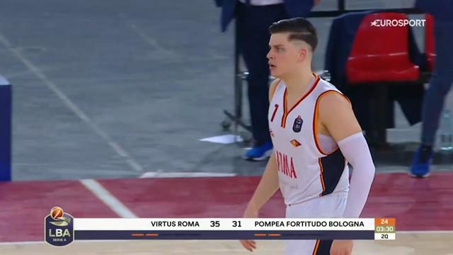 Amar Alibegovic MVP della sfida tra Virtus Roma e Fortitudo Bologna