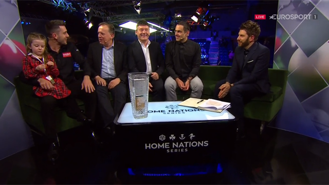 English Open champion Selby joins Ronnie, Jimmy, Fouldsy and Goldstein on the Eurosport sofa