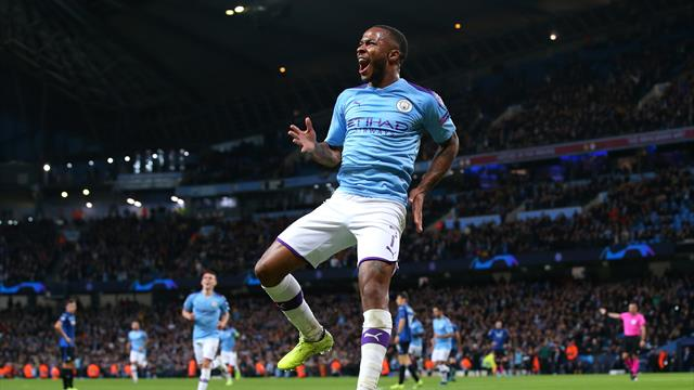 Sterling's 11-minute hat-trick inspires City to Atalanta rout