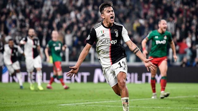 È un Dybala da urlo: doppietta in 2 minuti e la Juventus vola, 2-1 alla Lokomotiv Mosca
