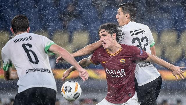 Le pagelle di Roma-Borussia Mönchengladbach 1-1: bene Mancini, Zaniolo non basta