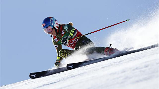 Shiffrin leads the way after first leg despite Robinson heroics