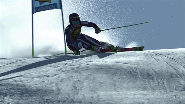 WATCH - The run that gave Alice Robinson victory over Mikaela Shiffrin