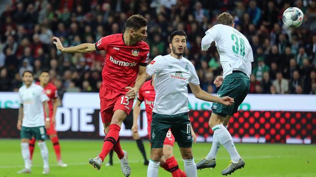 """""""Brauchen auch mal ein bisschen Glück"""": Bayer nur remis gegen Werder"""