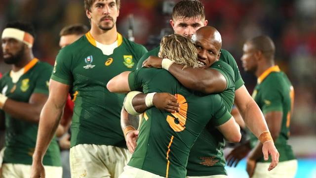 Il Sudafrica la spunta con un calcio di Pollard: 19-16 al Galles, sarà finale con l'Inghilterra