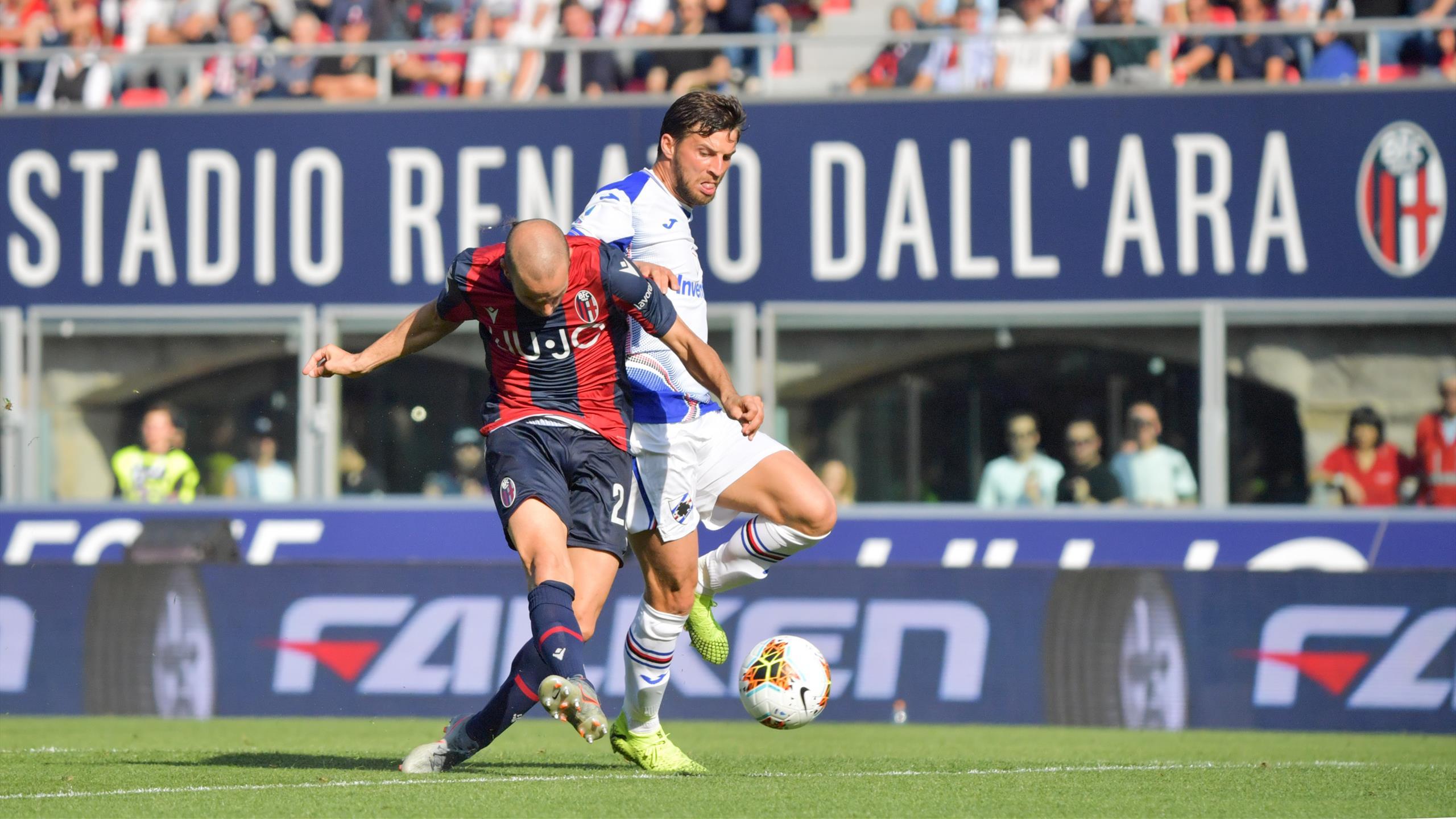 Serie A: Bologna-Sampdoria 2-1, decidono Palacio e Bani - Eurosport
