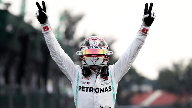 Hamilton wins in Mexico, but must wait for title