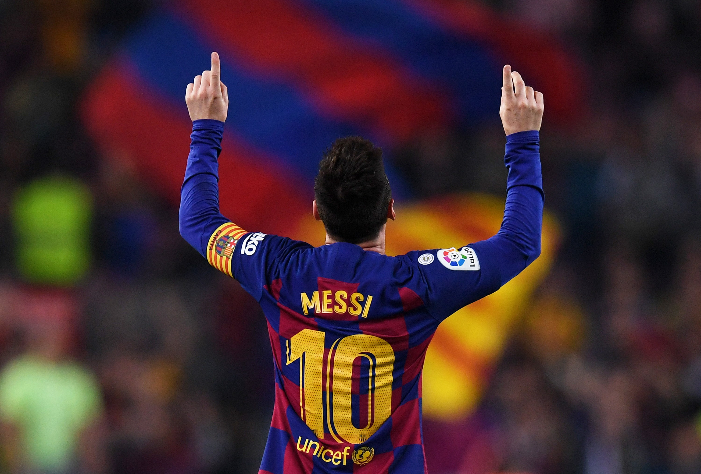 Lionel Messi buteur lors de FC Barcelone - Valladolid en Liga le 29 octobre 2019