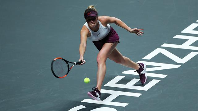 Svitolina books WTA Finals last-four spot with Halep victory