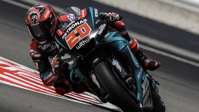 Quartararo takes pole in Malaysia after Marquez crash