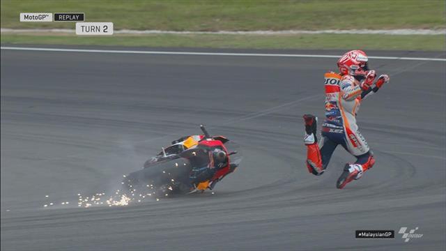MotoGP | Marquez keihard onderuit tijdens kwalificatie