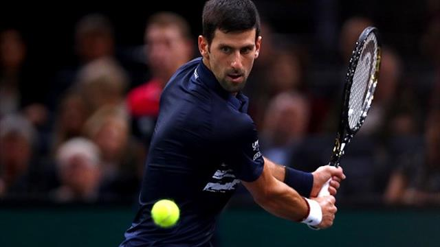 Djokovic eases past Dimitrov to make sixth final at Paris Masters